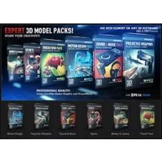 Video Copilot Element Studio Bundle (E3D, Motion Design Pack 1, Pro Shaders  1 & 5 3D Model Packs)